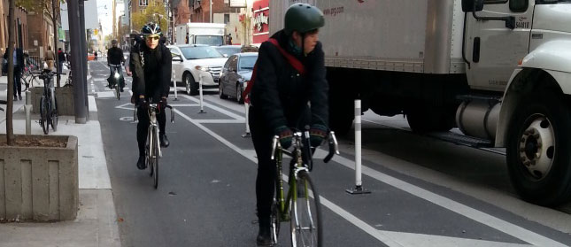 richmond-adelaide protected bike lane